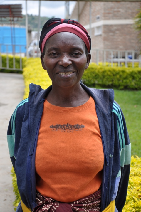 Immacule Mukandutiye, who returned a year later to show her gratitute to MMFC for the life-changing surgery she received in 2012